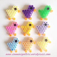 Easter chicks hama beads by sannasgalleri Bunny Crafts, Cute Crafts, Bead Crafts, Easter Crafts, Melty Bead Patterns, Hama Beads Patterns, Beading Patterns, Diy For Kids, Crafts For Kids