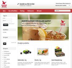 Bygget om nettbutikk design for Pelican Rouge, tidligere Cafebar. Web Norge har Norge, Sverige og Danmark i nettbutikk portefølgen.