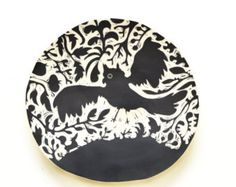 Bird of Prey Scraffito Hanging Plate by Oxide Pottery in Lynchburg, Virginia