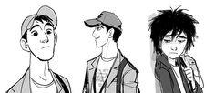 Hiro+e+Tadashi+Hamada,+de+Big+Hero+6!,+por+Jin+Kim