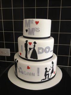 My girlfriends vow renewal cake
