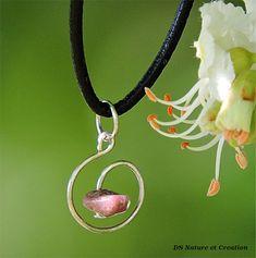 Handmade jewelry, pink gemstone pendant, rhodonite necklace, bohemian romantic jewelry, rhodonite pendant, natural gemstone necklace, aywin