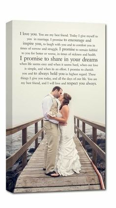 Your Wedding Portrait And Vows Such A Special Keepsake