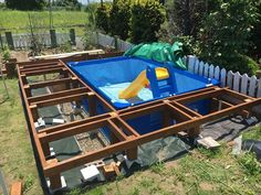 Homemade Swimming Pools, Portable Swimming Pools, Swimming Pools Backyard, Swimming Pool Designs, Backyard Pool Landscaping, Small Backyard Pools, Backyard Patio Designs, Piscina Diy, Small Pool Design