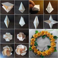 Wonderful DIY Pretty Origami Twisty Rose / WonderfulDIY.com on imgfave