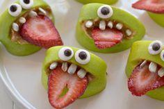 Une collation santé et sans beurre d'arachide pour Halloween! Plus une recette pour les petits yeux!