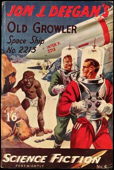 Science Fiction Fortnightly No. 4 (Feb., 1951). British Paperback. Digest Size. Cover Art by D. L. W.   Flickr - Photo Sharing!
