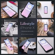 Get a professionally designed collection of 11 iPhone X mockups to use in your personal and commercial projects
