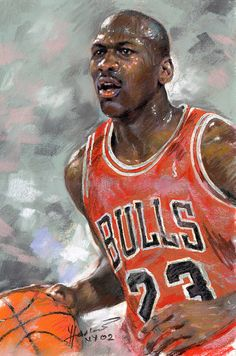 Michael Jordan, soft pastel on Canson paper by Ylli Haruni