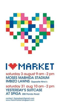 I heart Market Poster 2013 Concept and Design: Dominic Strauss