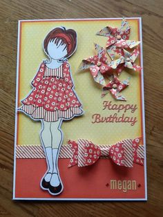 Julie nutting doll card