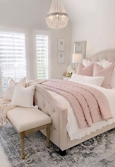 Most Popular and Amazing Bedroom Design Ideas for This Year Part 24 - Home decor - Bedroom Decor Master Bedroom Design, Home Decor Bedroom, Modern Bedroom, Contemporary Bedroom, Bedroom Inspo, Blush Bedroom Decor, French Bedroom Decor, French Bedrooms, Silver Bedroom
