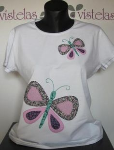Vístelas. Camiseta mariposas.