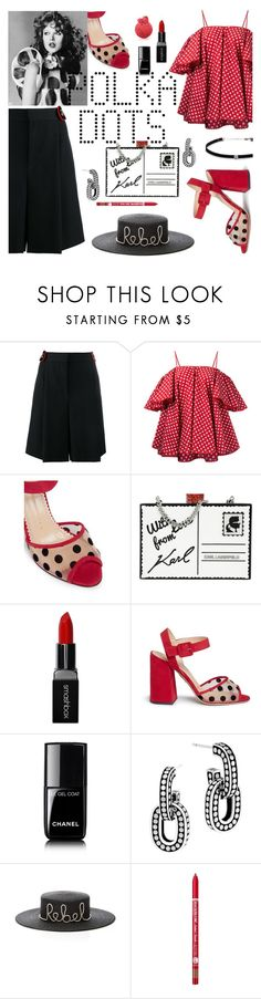 """do the dot"" by iraavalon ❤ liked on Polyvore featuring Givenchy, Anna October, Charlotte Olympia, Karl Lagerfeld, Smashbox, Chanel, John Hardy, Eugenia Kim, Charlotte Russe and Carbon & Hyde"