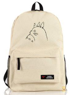 Siawasey My Neighbor Totoro Anime Cartoon Cosplay Backpack School Bag 6 Patterns Cute Backpacks, School Backpacks, Canvas Backpacks, Totoro Backpack, Mochila Nike, Backpack Pattern, School Bags For Girls, Mein Style, My Neighbor Totoro