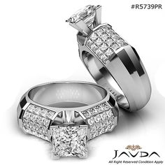 Brilliant Cut Princess Diamond Engagement Ring GIA H White Gold ct Gents Ring, Wedding Sherwani, Men Rings, Solitaire Ring, White Gold, Anniversary, Wedding Rings, Engagement Rings, Jewellery