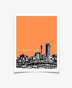 Your place to buy and sell all things handmade Johannesburg Africa, Johannesburg Skyline, Skyline 2, City Skyline Art, Africa Art, Out Of Africa, Africa Style, African Quotes, Poster City
