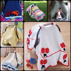 Crochet Baby Car Seat Cover to keep your little ones cozy. The basic pattern allows you to embellish and adapt to gender and theme/color preferences