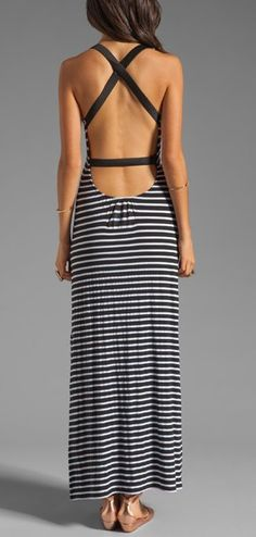 Nautical Maxi Dress, love the back