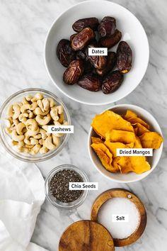 Date Energy Balls, No Carb Recipes, Healthy Recipes, Dried Mangoes, Raw Bars, No Bake Snacks, Good Healthy Snacks, Balls Recipe, Food Inspiration
