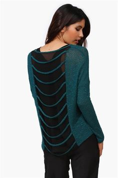Ladder Sweater in Hunter Green