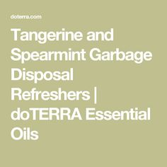 Tangerine and Spearmint Garbage Disposal Refreshers | doTERRA Essential Oils