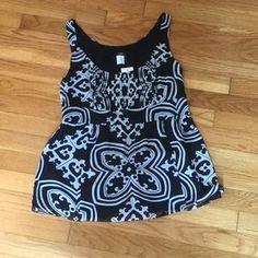 For Sale in My Poshmark Closet: J. Crew Silk Black & White Print Blouse. NWT
