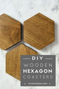 Learn how to make trendy wooden coasters!