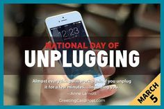 """""""Almost everything will work again if you unplug it for a few minutes... Including you. - Anne Lamott National Day of Unplugging: Quotes, Jokes, Captions, FAQs, Fun Facts #unplug #unplugged #quotes National Celebration Days, Anne Lamott, Captions, Everything, Fun Facts, Jokes, Husky Jokes, Memes, Funny Facts"""