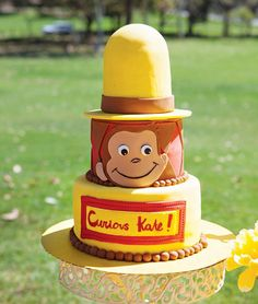 curious george birthday party cake