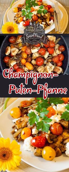 Hearty mushroom and turkey pan with a hint of garlic- Herzhafte Champignon-Puten-Pfanne mit einem Hauch Knoblauch This pan dish is a great low carb recipe that fits into any low carb diet. Low in carbohydrates and quickly prepared. Low Carb Paleo, Low Carb Diet, Paleo Diet, Ketogenic Diet, Healthy Nutrition, Clean Eating Diet, Healthy Eating, Eating Habits, Healthy Food