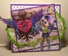 Digital Stamp Punkette Peta182 Digi Stamp Coloring by artbymiran