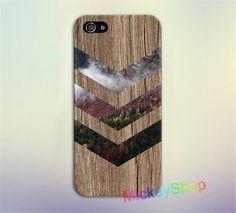 Fall Foliage Forest Chevron Brown Wood fashion case for iphone 4 4s 5 5s SE 5c 6 6S 6 plus 6S plus 7 7 plus #uk252 #Affiliate
