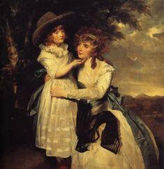 Miss Cocks and Her Niece, 1789 Joshua Reynolds - Genre - portrait