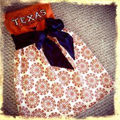 Other post explains...Gameday Tube Strapless T-Shirt Dress Orange & White Print Skirt $55.00