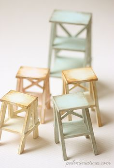Dollhouse Miniatures, Miniature Food Jewelry, Craft Classes: Dollhouse Miniature Ladders