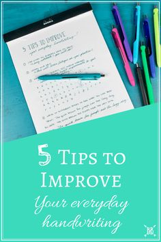 Are you looking for ways to improve your everyday handwriting? Then this post is for you! Today, I'm sharing my top five tips that will help you improve :)