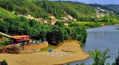 Penacova near Coimbra and the beach is on the River Mondego ... River Beaches in Central Portugal every bit as good as the ocean beaches ... and in summer the water is warmer