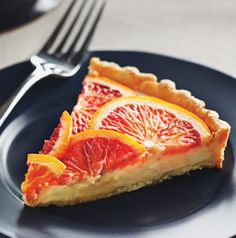 Blood Orange Mascarpone Tart vt hy-vee #Tart #Blood_Orange #Mascarpone