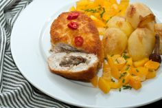 Zrazy Chicken with mushrooms and cheese.