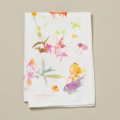Terrain Watercolor Flora Tea Towel #shopterrain I'd be afraid to use it and get it dirty (it is a hand towel)