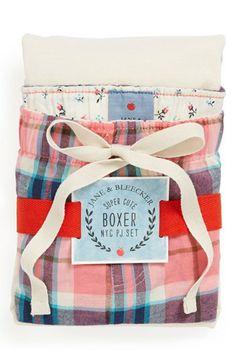 Jane & Bleecker Pink Hudson Plaid/ Ivory New York Short Pajamas Pyjamas, Pjs, Pajama Shorts, Nordstrom Rack, Boxer, Diaper Bag, Super Cute, New York, Womens Fashion
