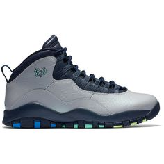 dbe6267e9876ef Find 2017 Air Jordan 10 Rio Wolf Grey Photo Blue-Obsidian-Green Glow online  or in Freerunshoes. Shop Top Brands and the latest styles 2017 Air Jordan 10  Rio ...