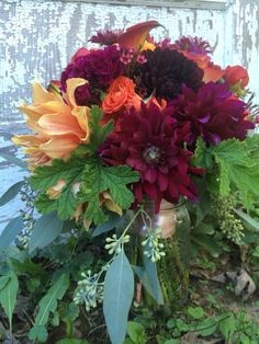 October bridal bouquet