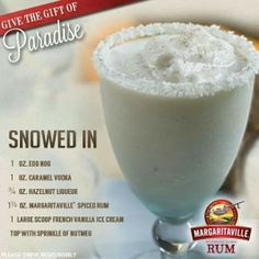 Egg nog margarita