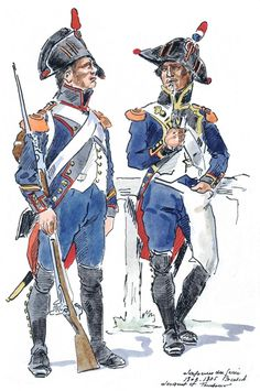 French; Imperial Corps of Engineers, Sapper Sergeant & Drummer 1803-05