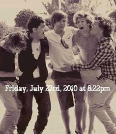 The day my life changed. HAPPY ANNIVERSARY ONE DIRECTION THANKS FOR THE PAST 6YRS OF GREAT MUSIC ❤