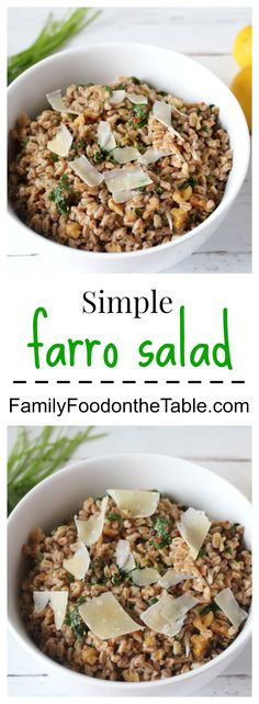 Simple farro salad - a fast and easy side dish!