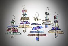 fused glass images | Glass For Sale | Clear Dichroic Fused Glass Tree Suncatcher or ...