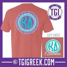 Kappa Delta - TGI Greek - Comfort Colors - Greek T-shirts - #TgiGreek #KappaDelta